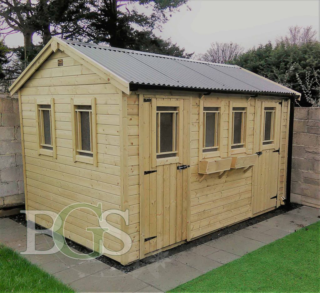 Combination Cottage Garden Shed - Pressure Treated