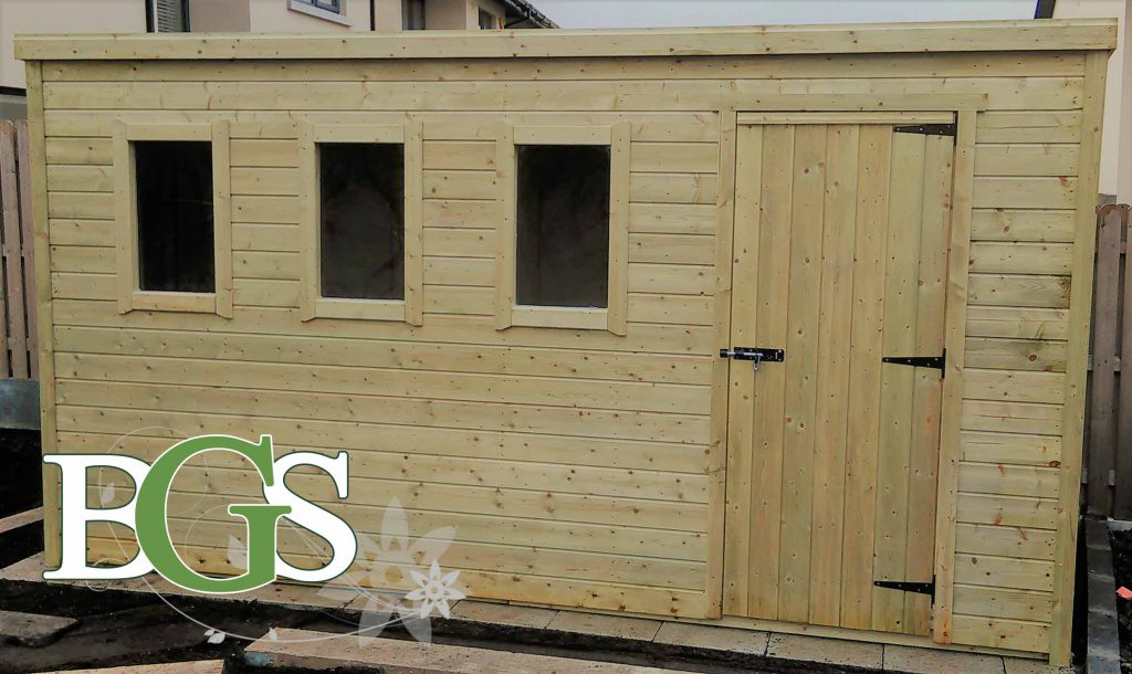 Special Pent Style Combination Cottage Garden Shed - Pressure Treated