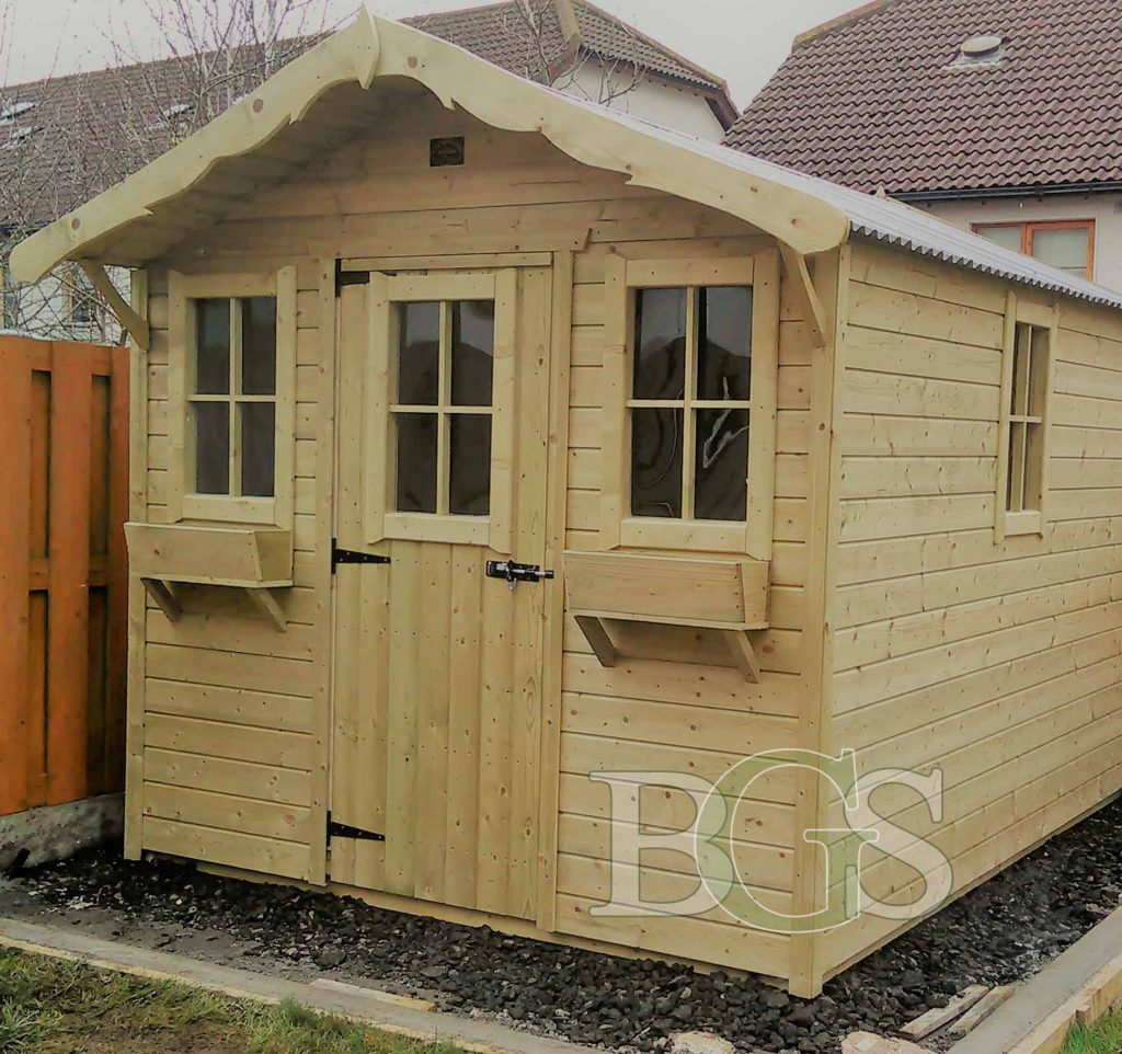 Cabin Garden Shed - Pressure Treated