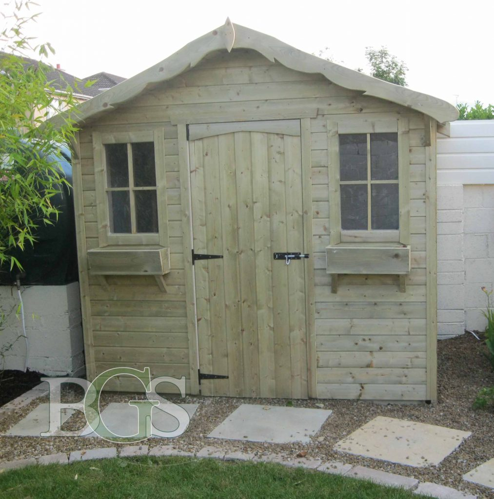 Cabin Style Shed - Pressure Treated