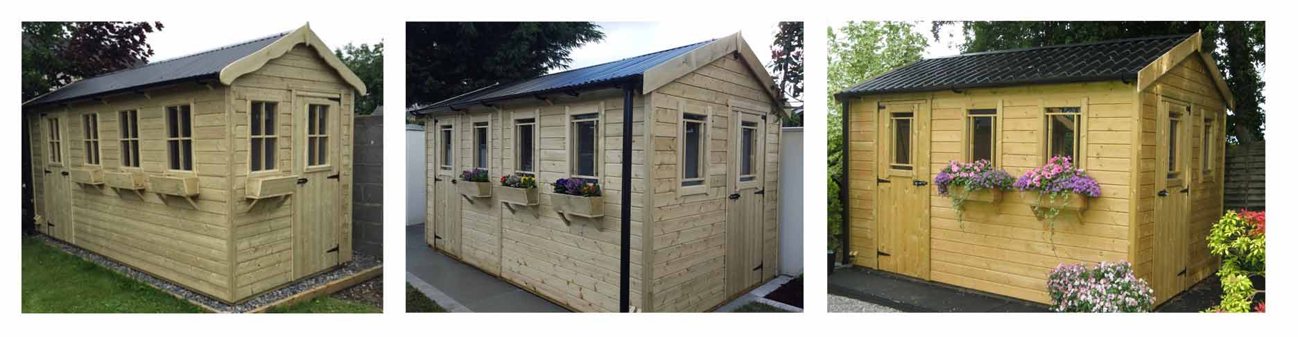 Combination Cottage Garden Shed