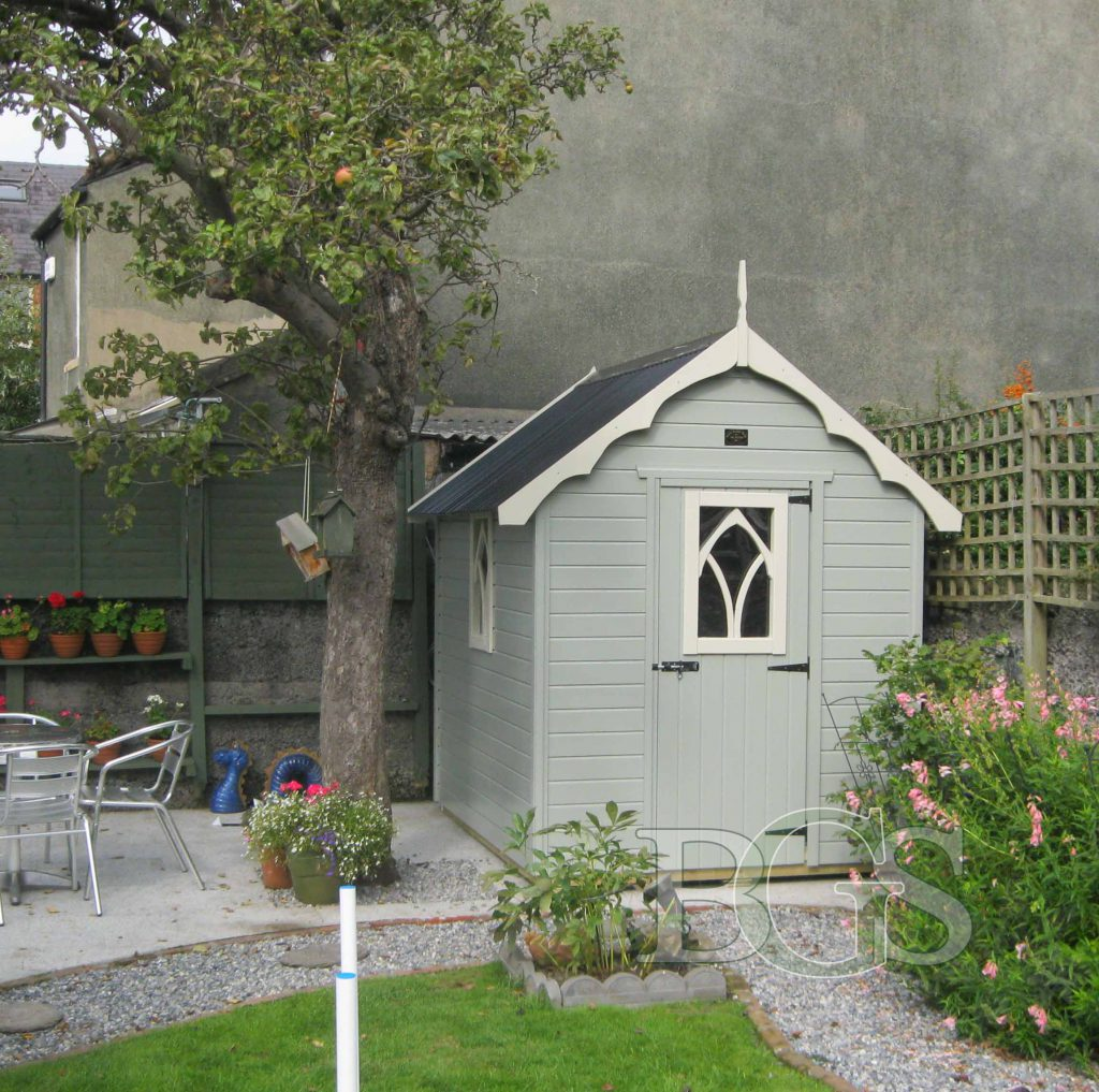 Gothic Style Shed - Painted
