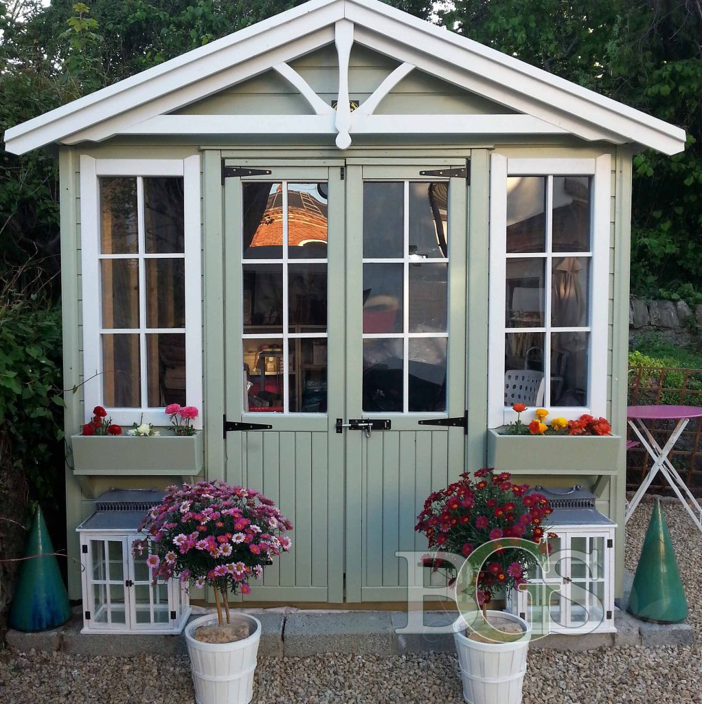 Pavilion Style Shed with Lodge Style Apex - Painted