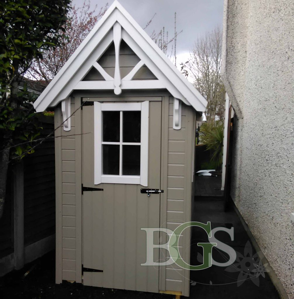 Painted Sentry Style Garden Shed