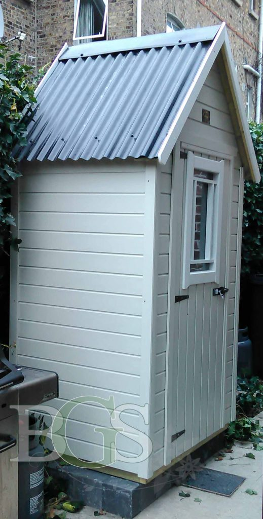 All New Sentry Style Storage Shed Painted